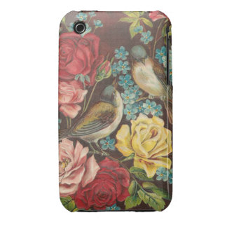 Vintage Birds and Flowers iPhone 3 Covers