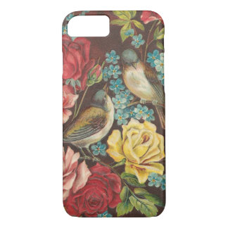 Vintage Birds and Flowers iPhone 7 Case