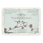 Vintage Birds Damask Wedding Invitations