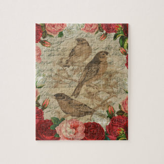 Vintage birds jigsaw puzzle