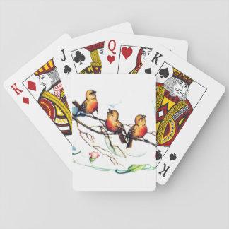Vintage Birds Poker Cards