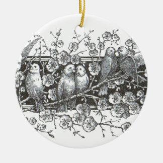 Vintage Birds Round Ornament