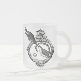 Vintage Birds With Heart Locket Apparel and Gifts Coffee Mugs