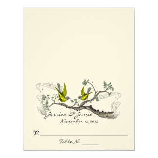 Vintage Birds Yellow Winged Gray Table Place Cards
