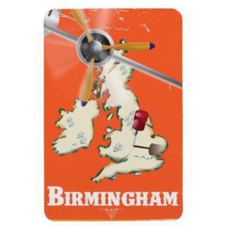 Vintage Birmingham Travel Poster Magnet