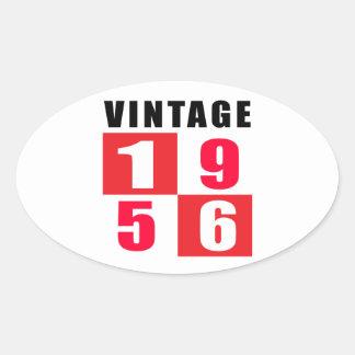 Vintage Birthday 1956 Oval Sticker
