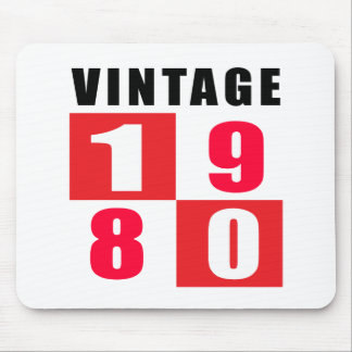 Vintage Birthday 1980 Mouse Pad