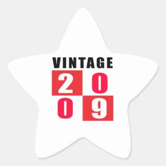 Vintage Birthday 2009 Star Sticker