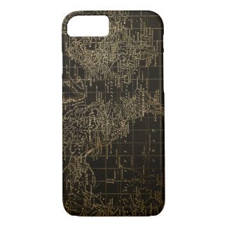 Vintage Black and gold World Map Phone Case