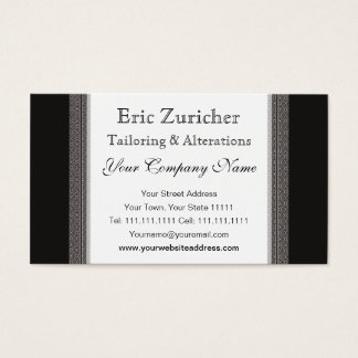 Vintage Black and Gray Elegance Gentleman's Shop Business Card