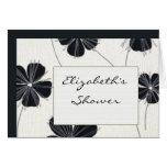 Vintage black and white bridal shower invite greeting card