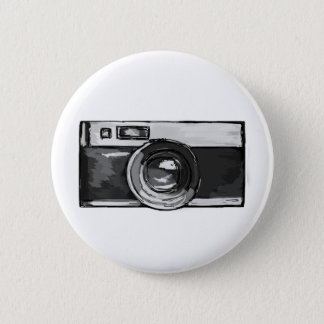 Vintage Black and White Camera Button