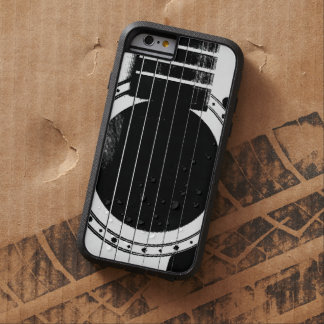 Vintage Black and White Guitar Tough Xtreme iPhone 6 Case