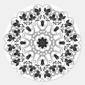 Vintage Black and White Mandala Sticker