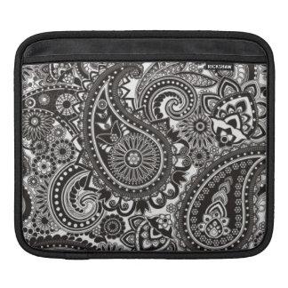 Vintage Black and White Paisley iPad Sleeve