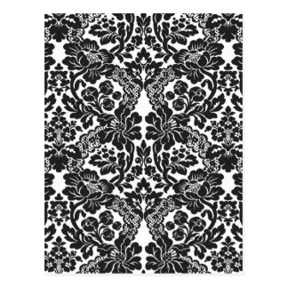 Vintage Black and White Pattern Postcard