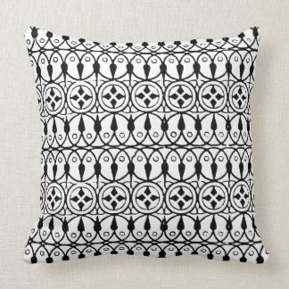Vintage Black and White Stamp Pillow