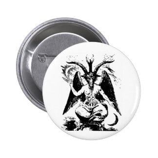 Vintage Black Baphomet 6 Cm Round Badge