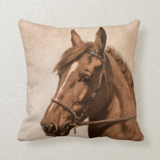 Vintage Black Beauty - Ginger Horse Throw Pillow
