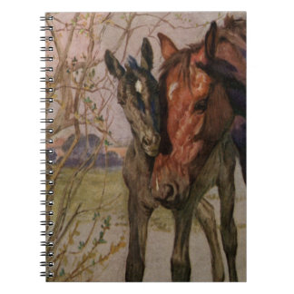 "Vintage Black Beauty horse ""My Mother and I"" Notebook"