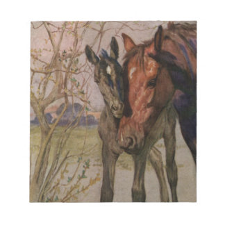 "Vintage Black Beauty horse ""My Mother and I"" Notepad"