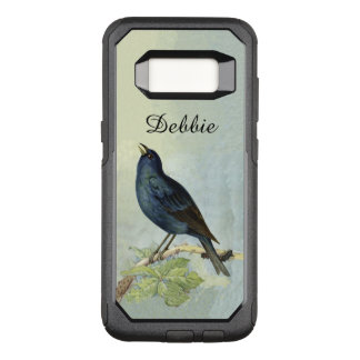 Vintage Black Bird Branch Hanging Caterpillar OtterBox Commuter Samsung Galaxy S8 Case