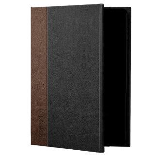 Vintage Black & Brown Leather Print Monogram Powis iPad Air 2 Case