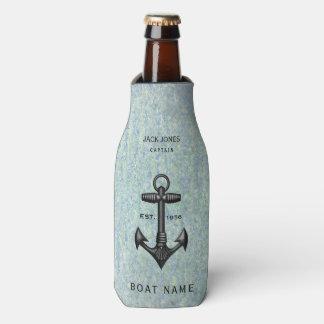 Vintage Black Cast Iron Anchor Sailor Boat Captain Bottle Cooler
