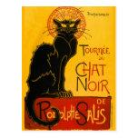 Vintage Black Cat Art Nouveau Chat Noir Steinlen Postcards