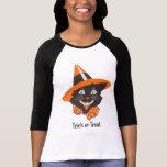 Vintage Black Cat Halloween Shirt