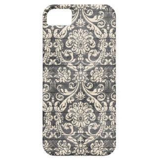 Vintage Black Damask Pattern iPhone Case iPhone 5 Cases