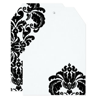 Vintage Black Damask Wedding Invitations