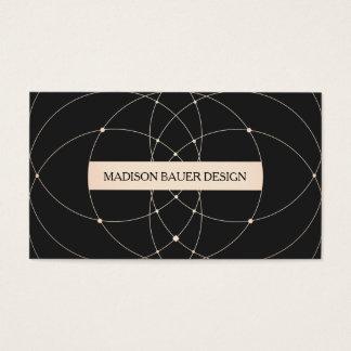 Vintage  Black  Gold Stylish Designer Business Card