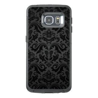 Vintage Black & Gray Damask OtterBox Samsung Galaxy S6 Edge Case