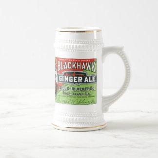 Vintage Black Hawk Ginger Ale Stein Mug