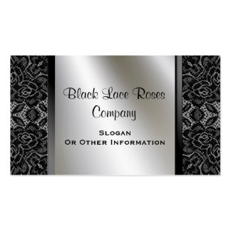 Vintage Black Lace Business Cards