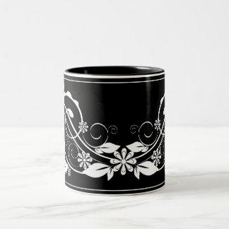 vintage black mug