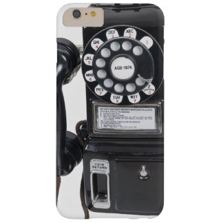 Vintage Black Pay Phone Barely There iPhone 6 Plus Case