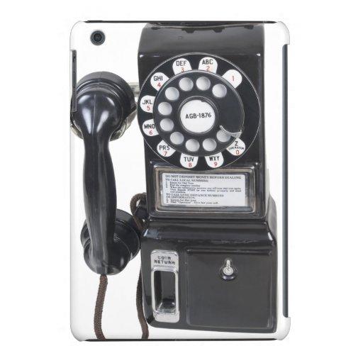 Vintage Black Pay Phone iPad Mini Retina Cases