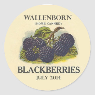 Vintage Blackberry Jam Label
