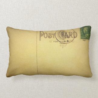 Vintage Blank Postcard  -Pillows Lumbar Cushion
