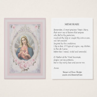 Vintage Blessed Virgin Mary Memorare Holy Card