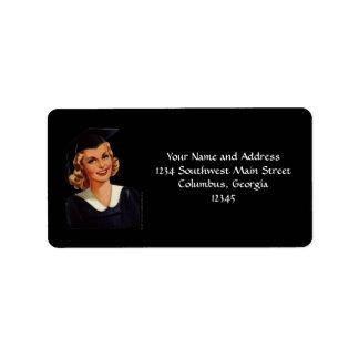Vintage Blonde College Graduate Label