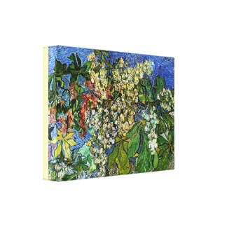 Vintage Blossoming Chestnut Branches by Van Gogh Canvas Print