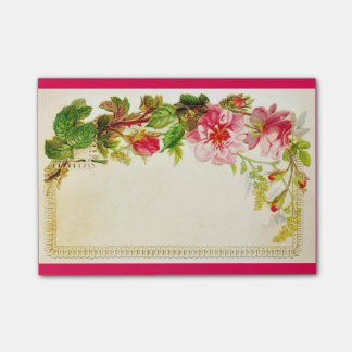 Vintage Blossoms Post-it® Notes 4 x 3