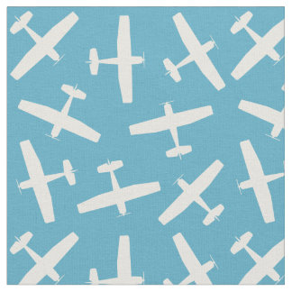 Vintage Blue Aircraft Pattern