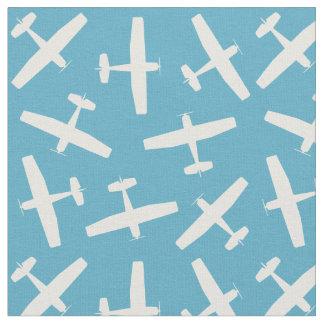 Vintage Blue Aircraft Pattern Fabric
