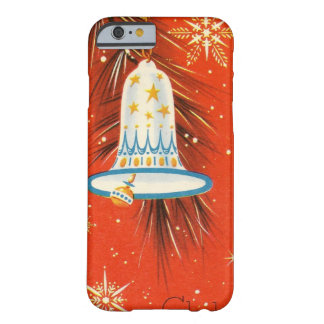 Vintage Blue and White Ornament on Red Barely There iPhone 6 Case