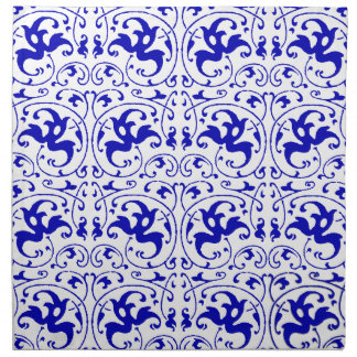 Vintage Blue and White Swirl Printed Napkins