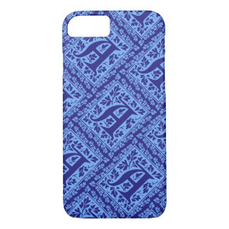 Vintage Blue Arts and Crafts Monogram A iPhone 7 Case